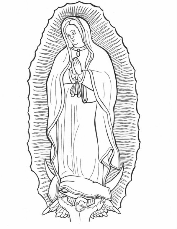 our lady of guadalupe coloring page # 10