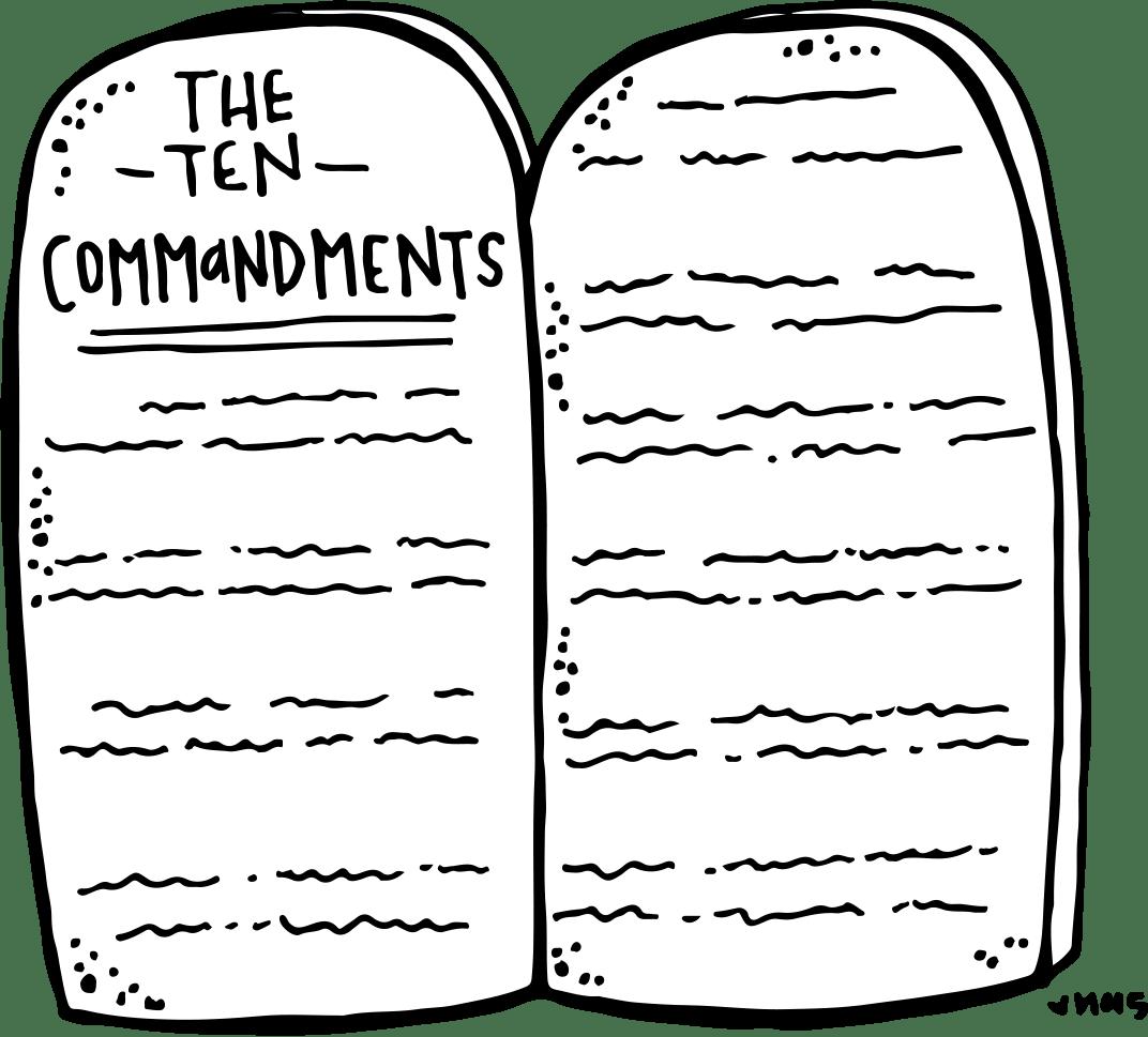 10 Commandments Tablets Worksheet