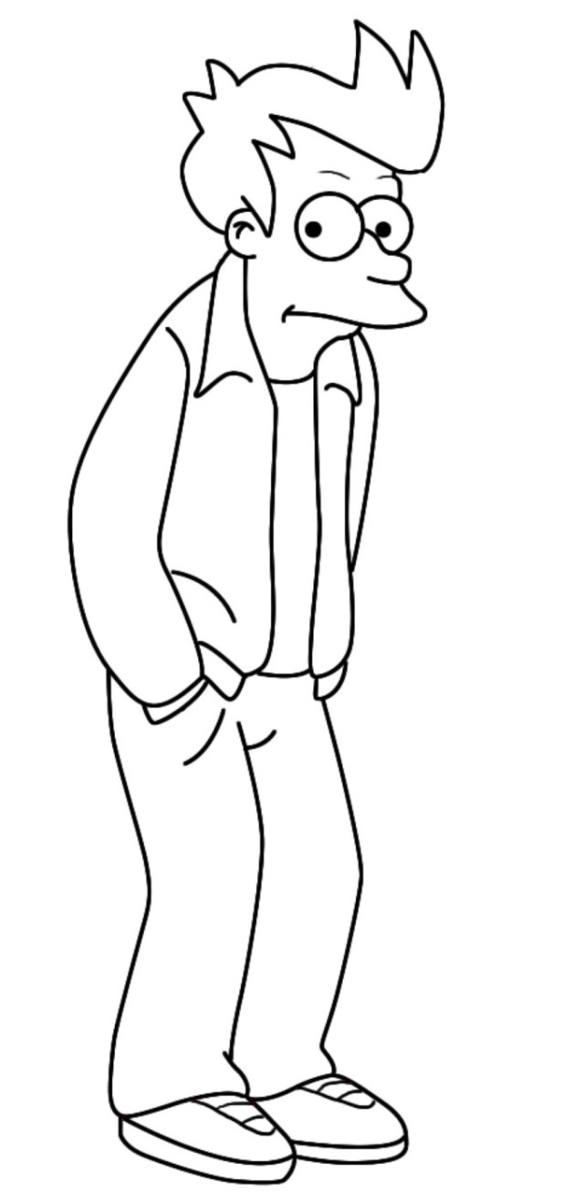 Futurama Coloring Pages - Coloring Home