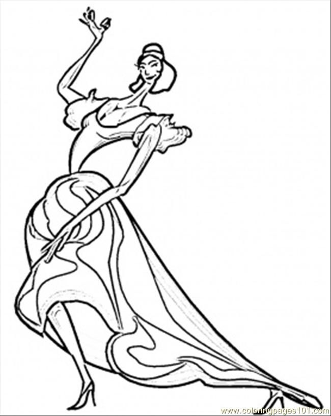 spanish dancer coloring page  coloring home