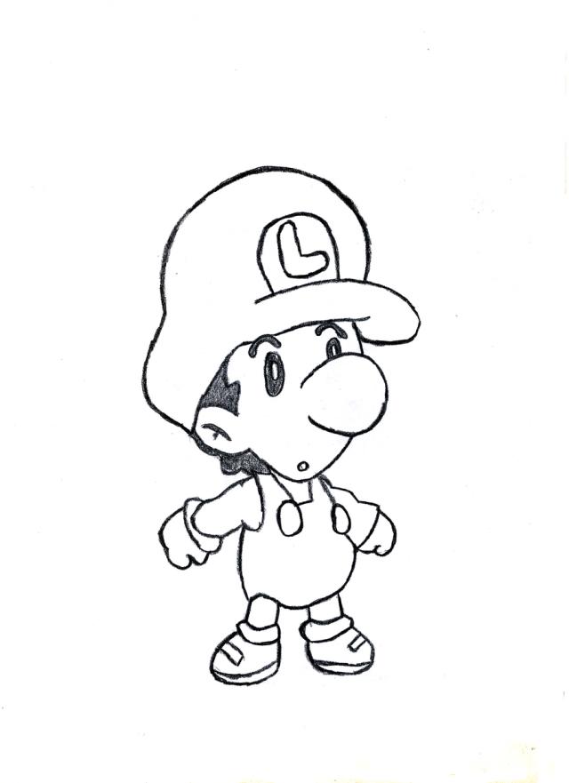 Baby Mario Coloring Pages : mario, coloring, pages, Mario, Luigi, Coloring, Pages