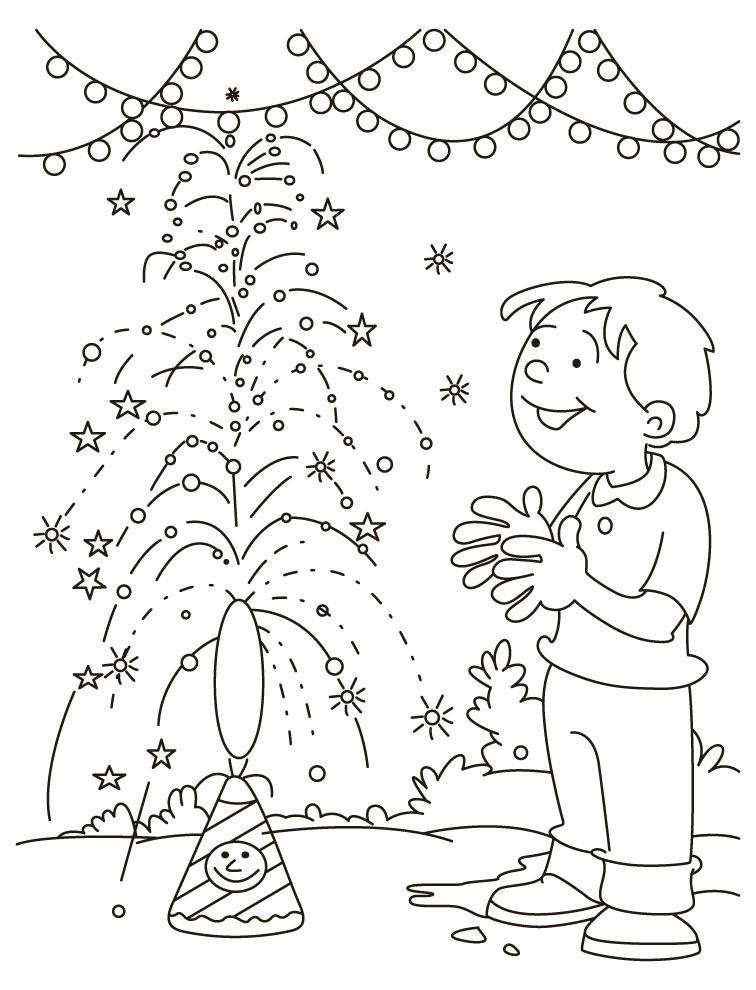 Holi Festival Colouring Pages