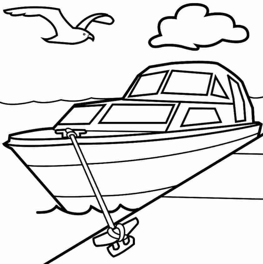 motor boat coloring pages  coloring home