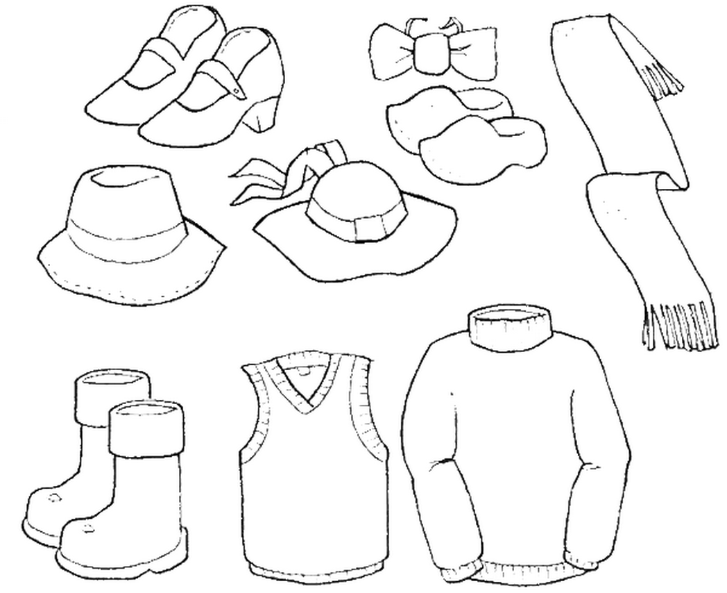 Boys Clothes Coloring Pages