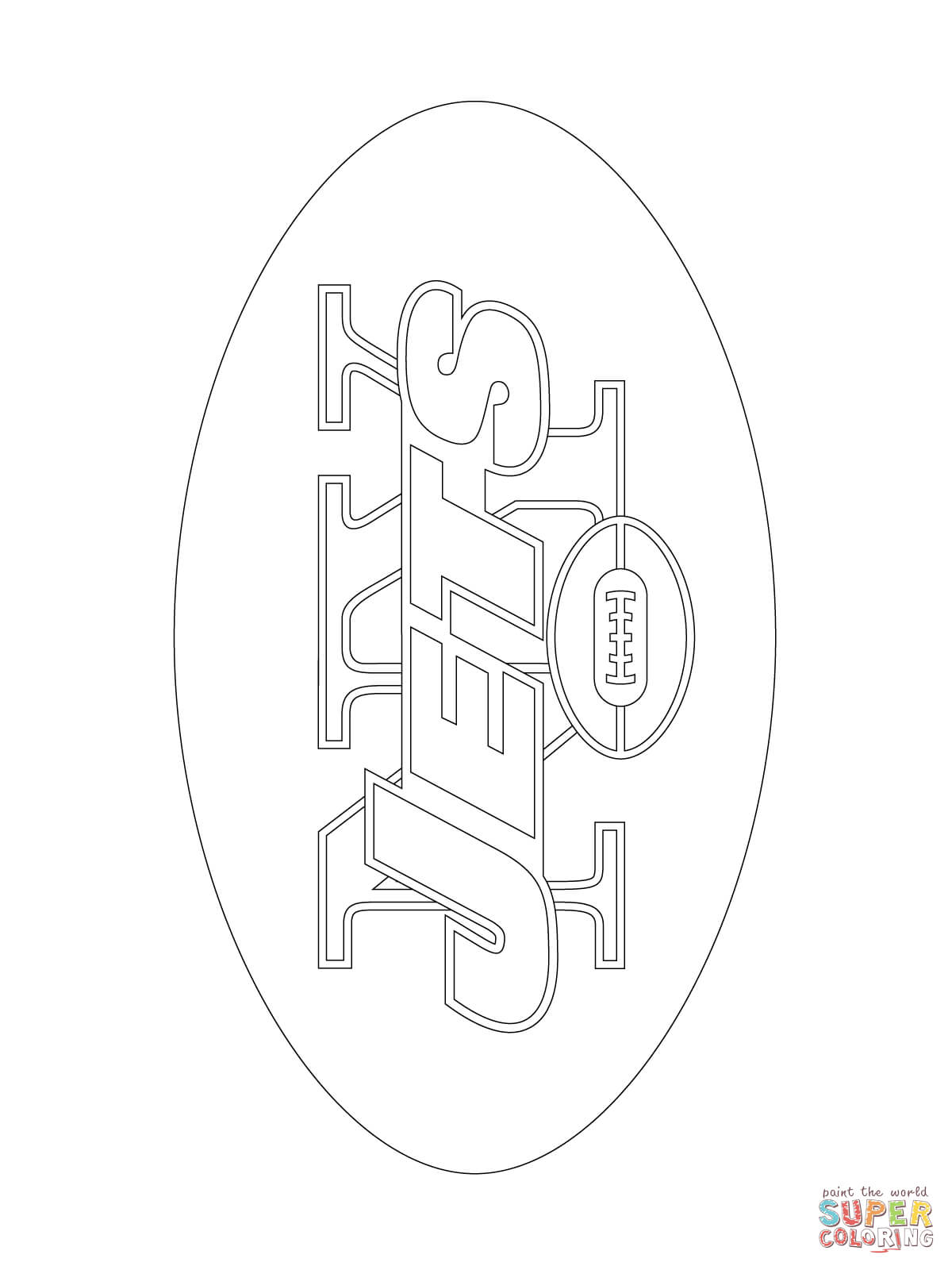 Football Coloring Pages New York Giants