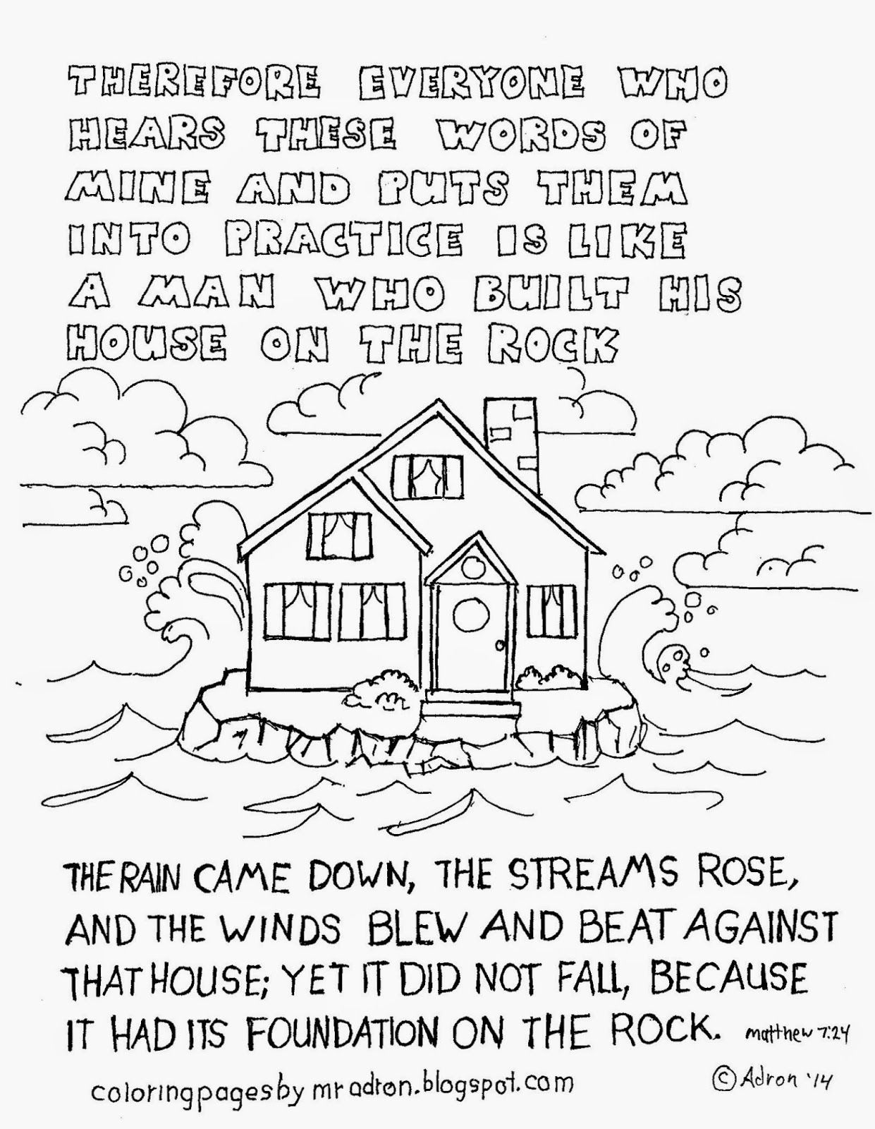 Wise Man Foolish Man Coloring Pages