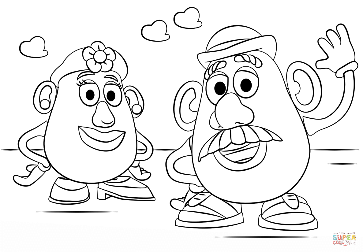 Patate Da Colorare Potato Clipart Coloring