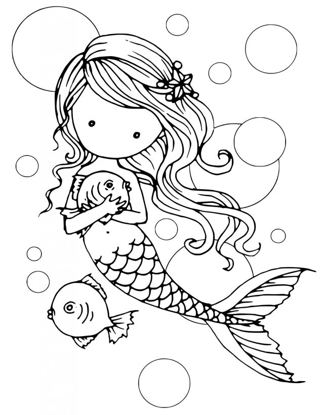 The Little Mermaid Coloring Pages Free To Print Printable For Kids