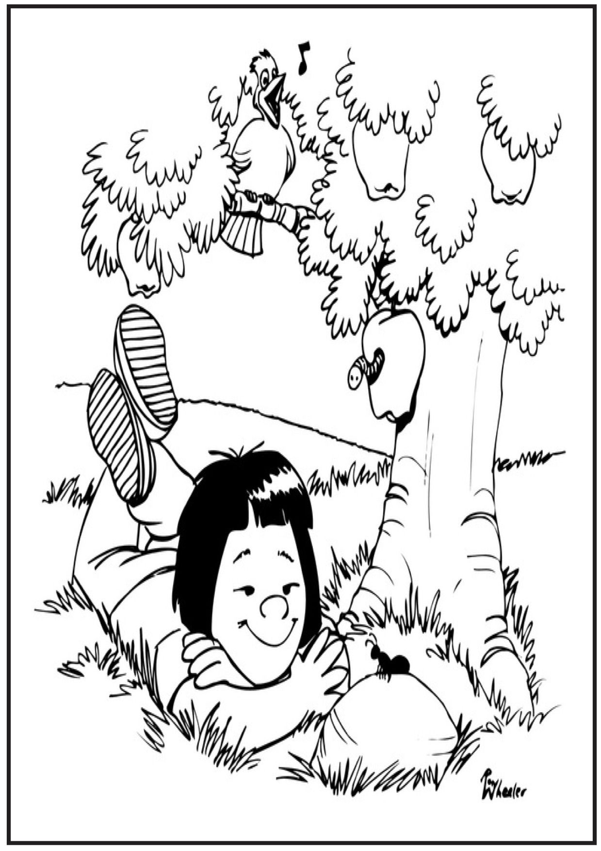Picnic And Ants Coloring Pages