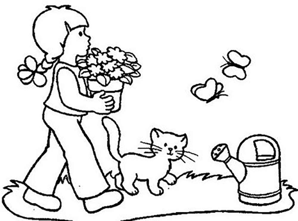 Garden Coloring Page Images For Kids Coloring Home