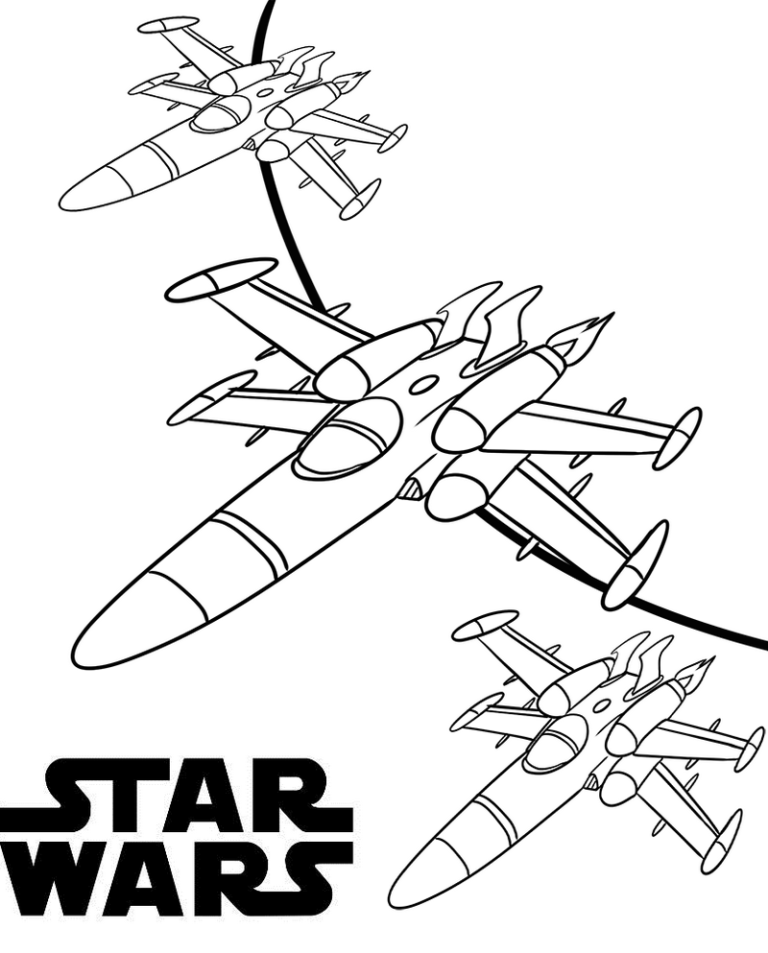 X Wing Coloring Page : coloring, Fighter, Coloring