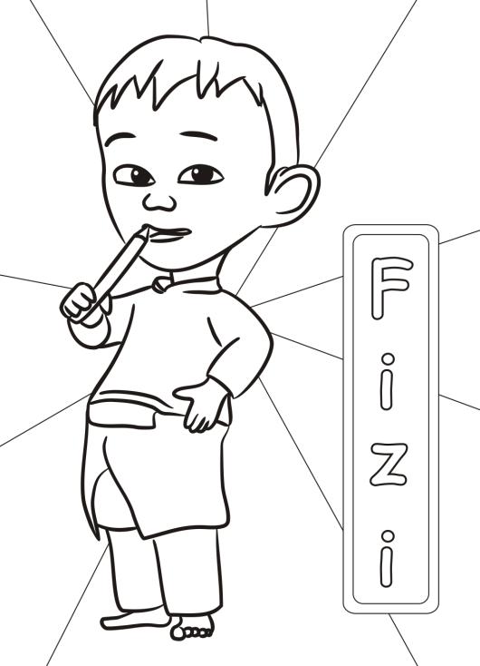 Mewarnai Upin Dan Ipin : mewarnai, Coloring, Pages