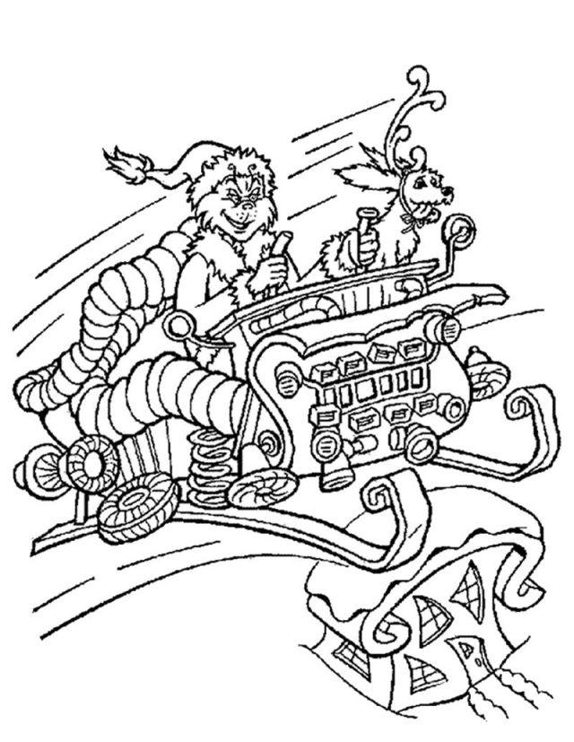 HOW THE GRINCH STOLE CHRISTMAS Coloring Pages - The Grinch In