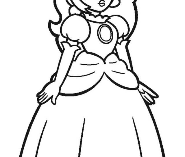 Pics Of Super Mario Princess Peach Coloring Pages Mario