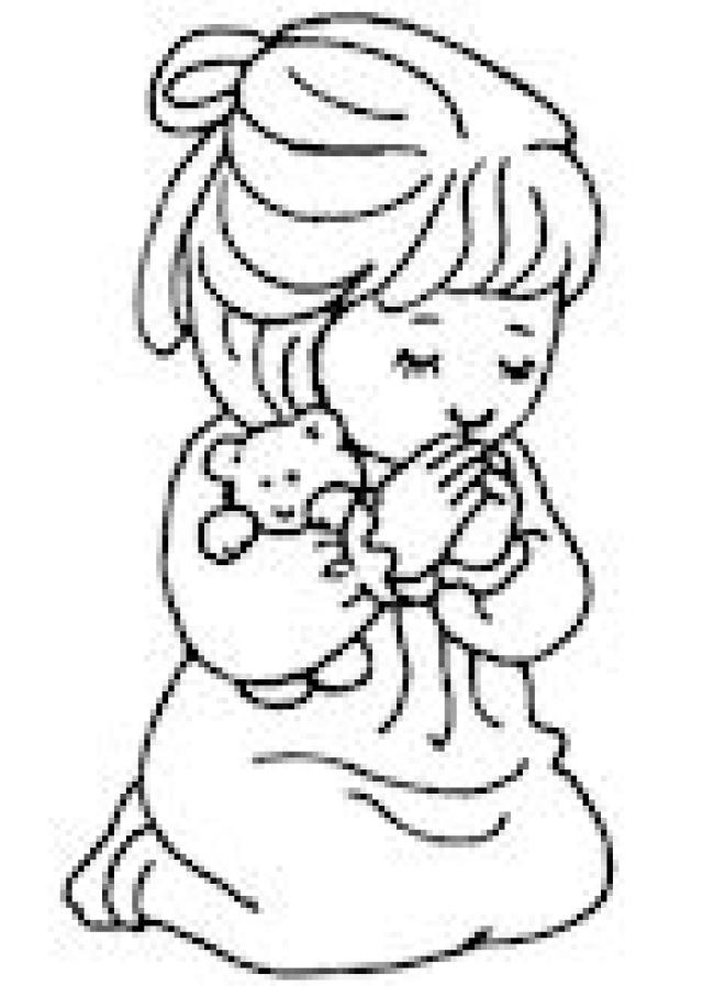 Free Coloring Page Images Of Praying Hands With Flowers