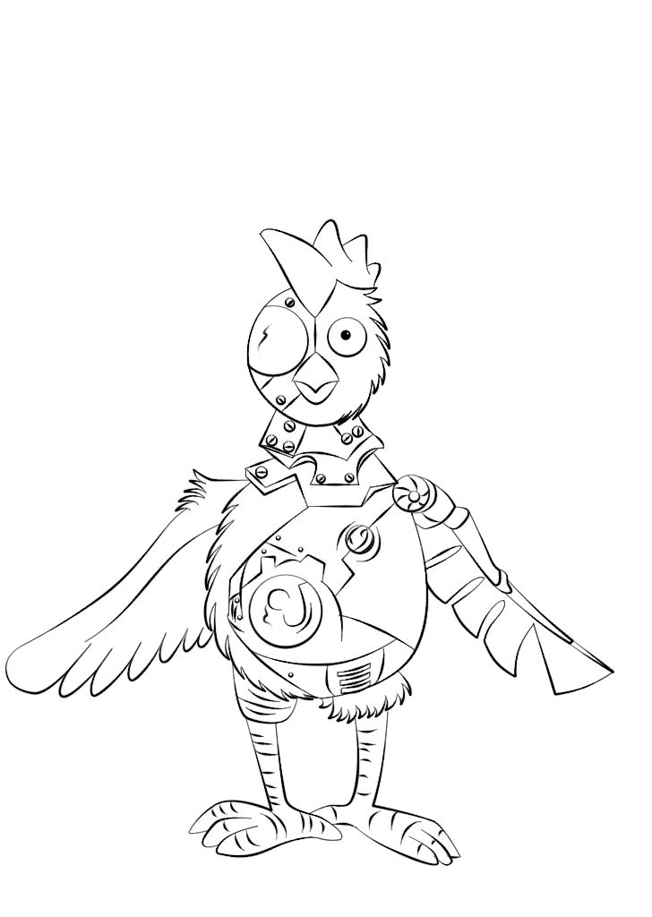 Robot Chicken Coloring Pages Coloring Home
