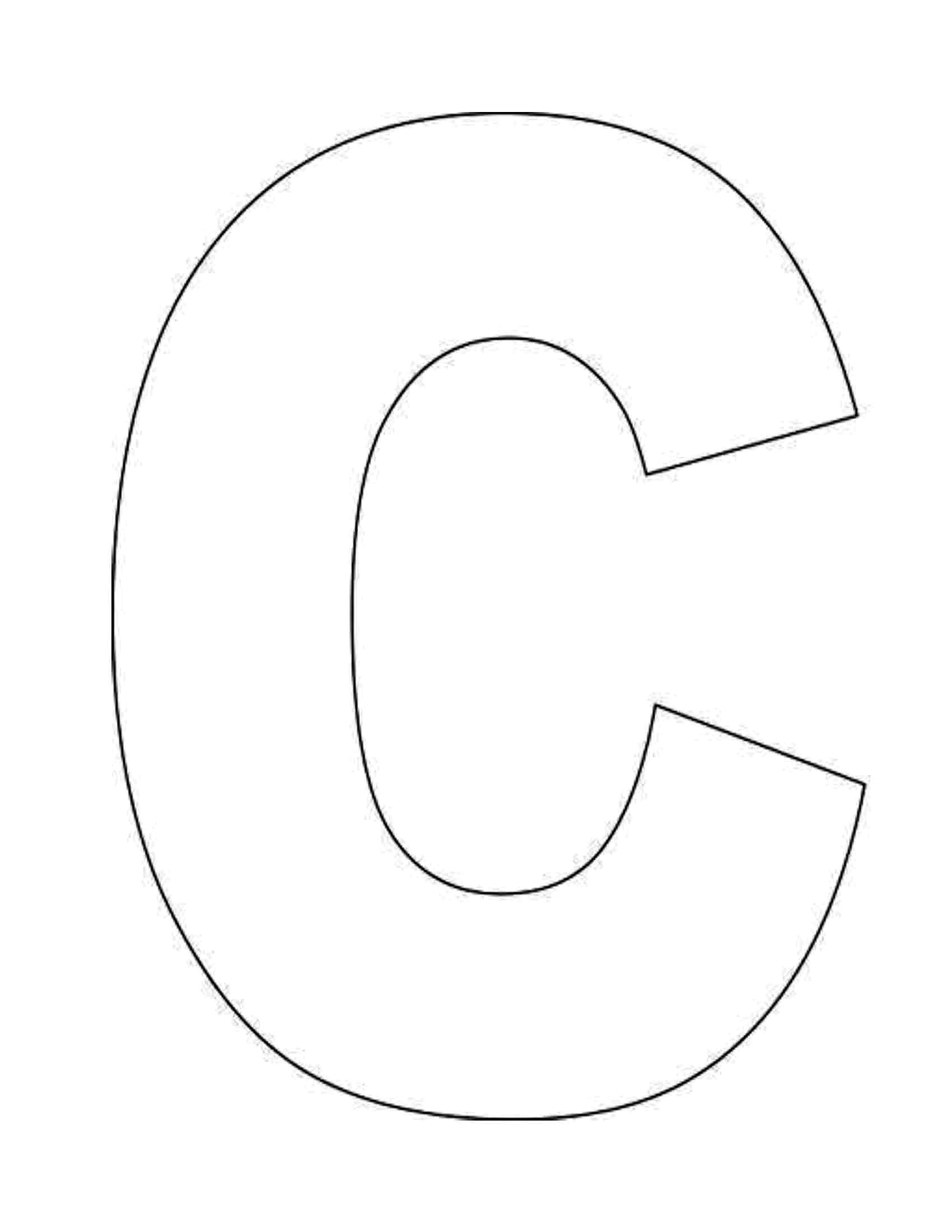 Best Photos Of Letter C Template Printable