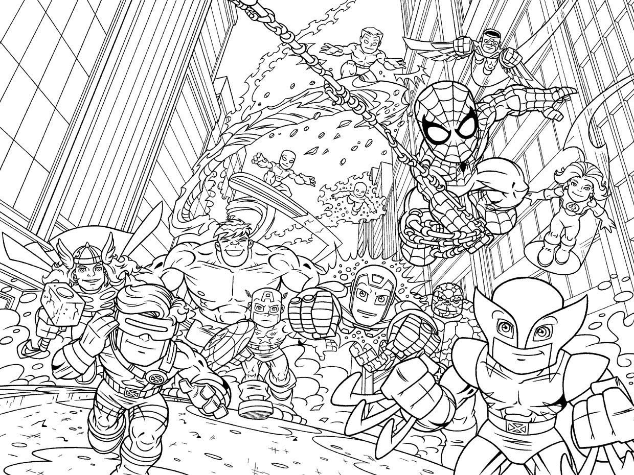 Avengers Coloring Pages And Book Uniquecoloringpages Coloring Home