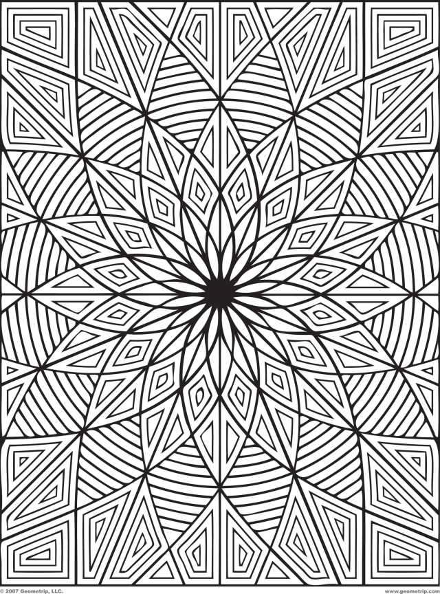Related Hard Kaleidoscope Coloring Pages Item-25, Hard