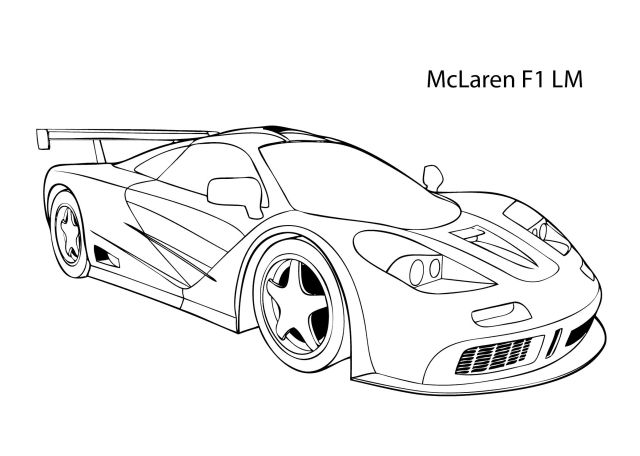 Mclaren Coloring Pages Printable  Warna - Coloring Home