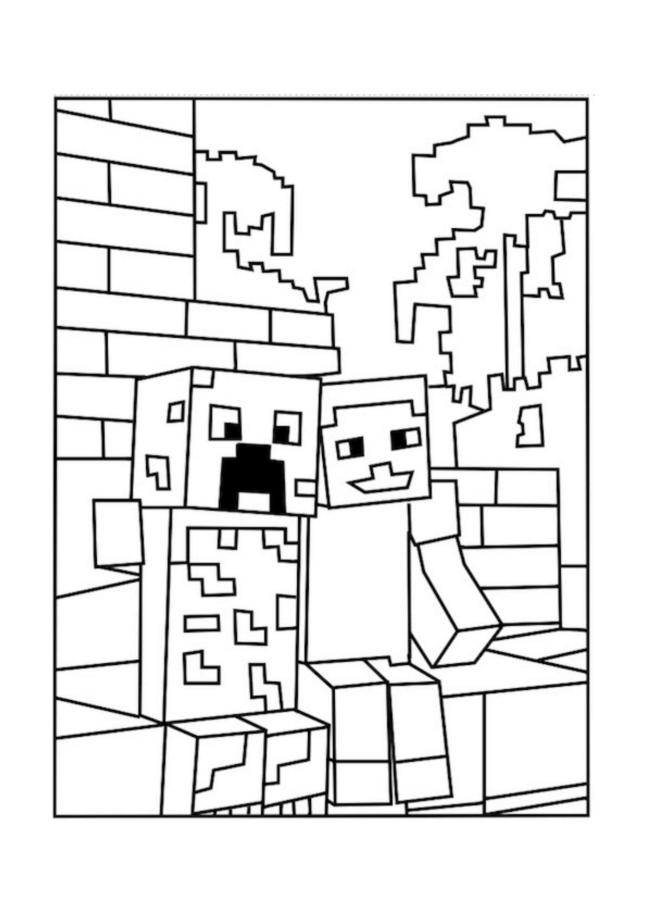 Minecraft Free Coloring Pages : minecraft, coloring, pages, Printable, Minecraft, Coloring, Pages