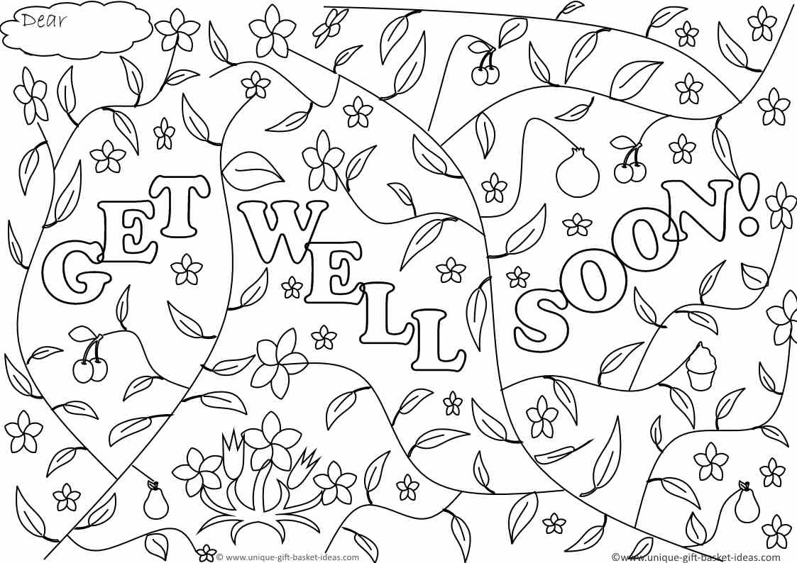 Printable Get Well Soon Coloring Pages Coloring Home