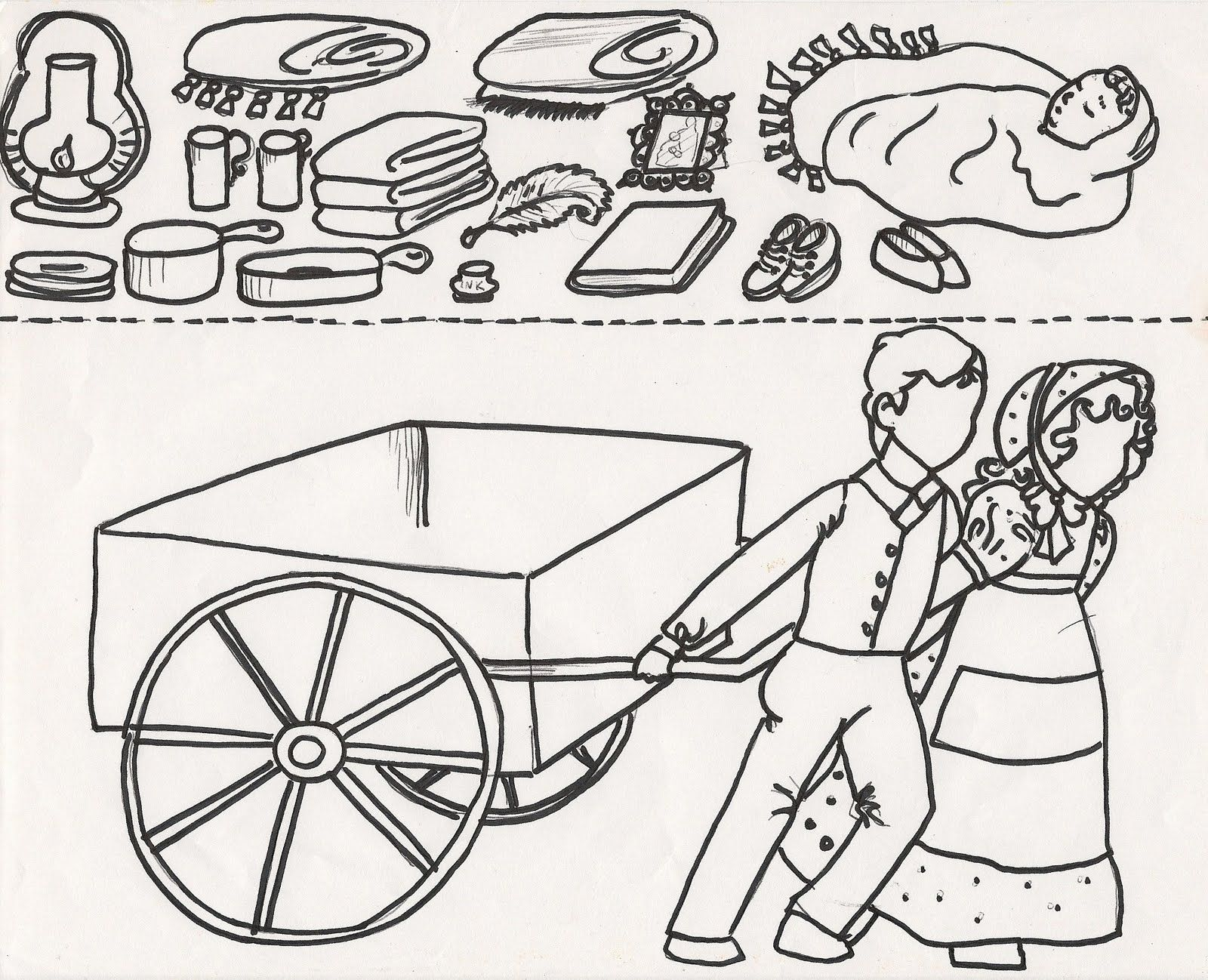 Pioneer Coloring Page