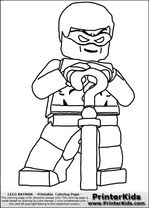 Colouring Pages Lego Batman Coloring Home