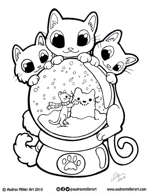 snow globes coloring pages  ofertasvuelo