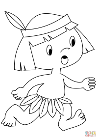 Indian Headdress Coloring Page - Coloring Home