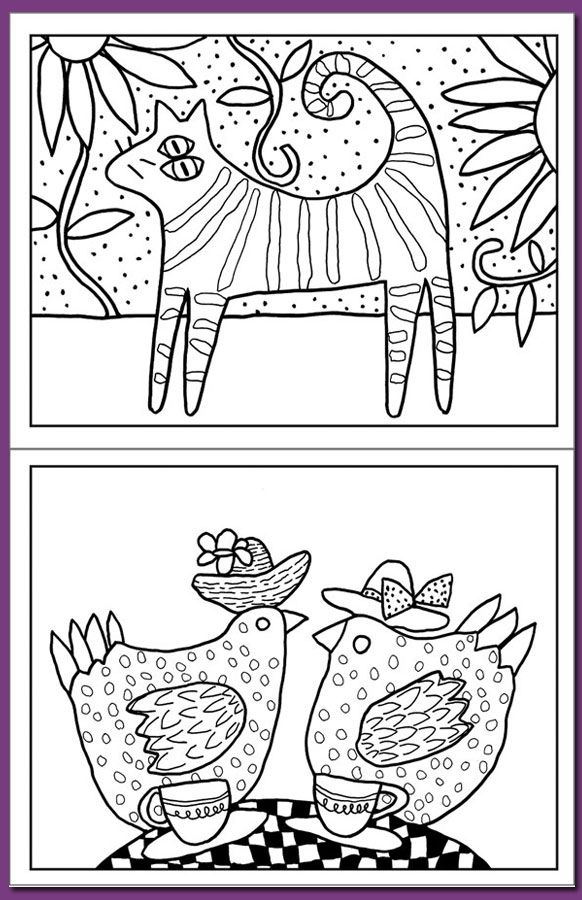 Folk Art Coloring Books : coloring, books, Mexican, Coloring, Pages