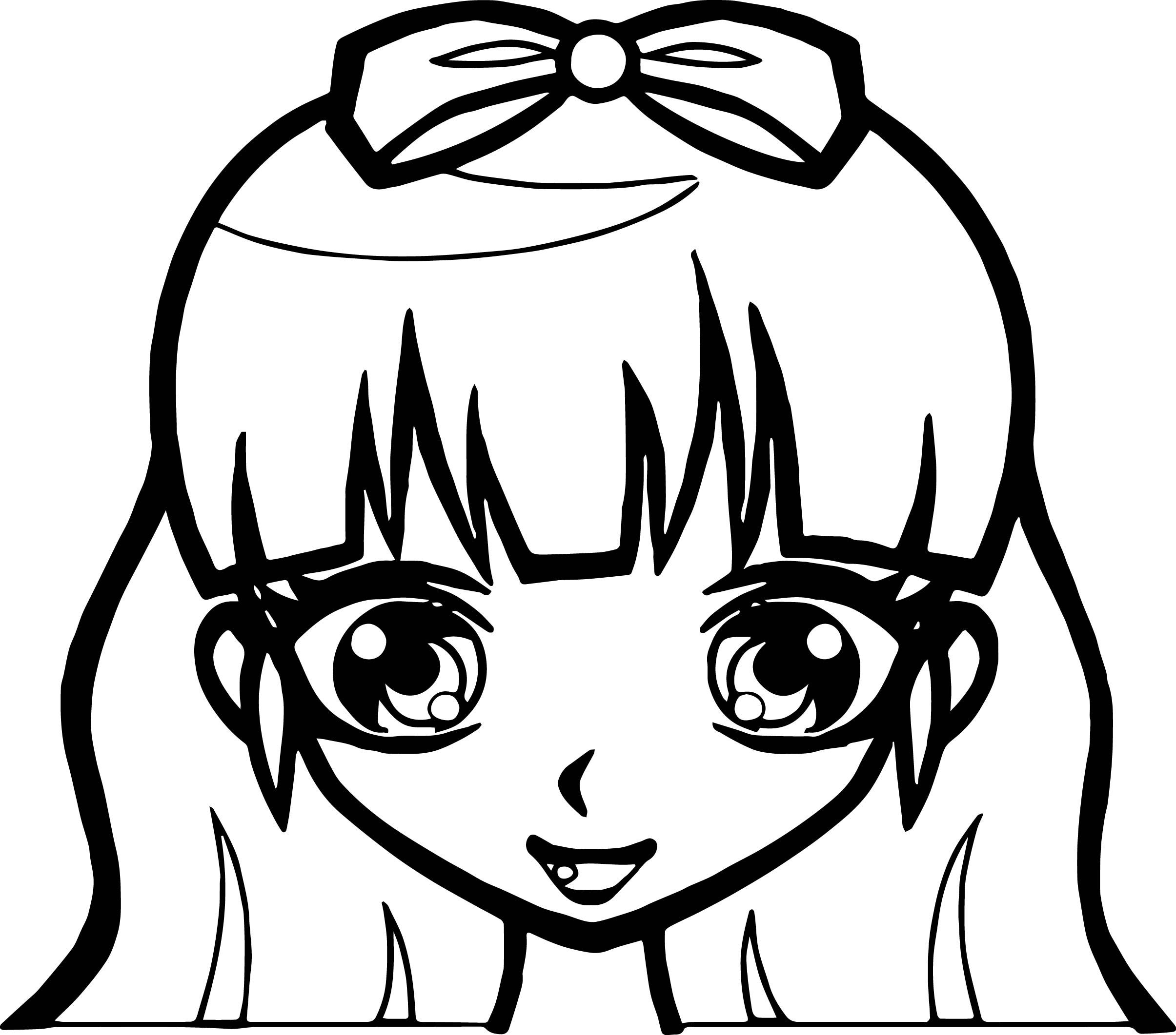 Worksheets Cute Girl Coloring Makeup Awesome Manga With