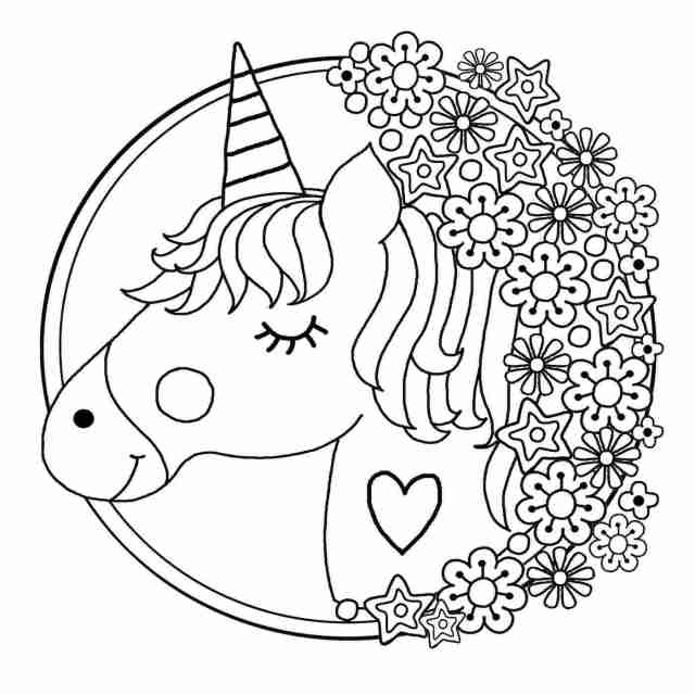 Coloring Pages : Free Printable Coloring Pictures Unicorns Unicorn