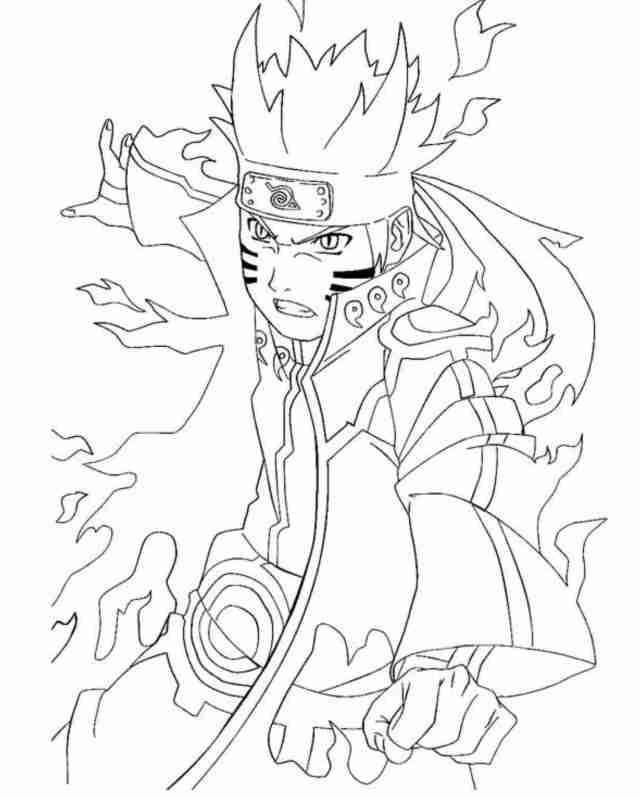 Free Printable Naruto Shippuden Coloring Pages Perfect - Coloring
