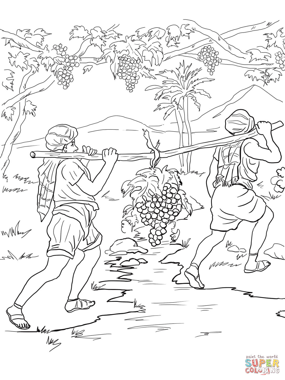 Coloring Page Of Israelites Crossing The Jordan River