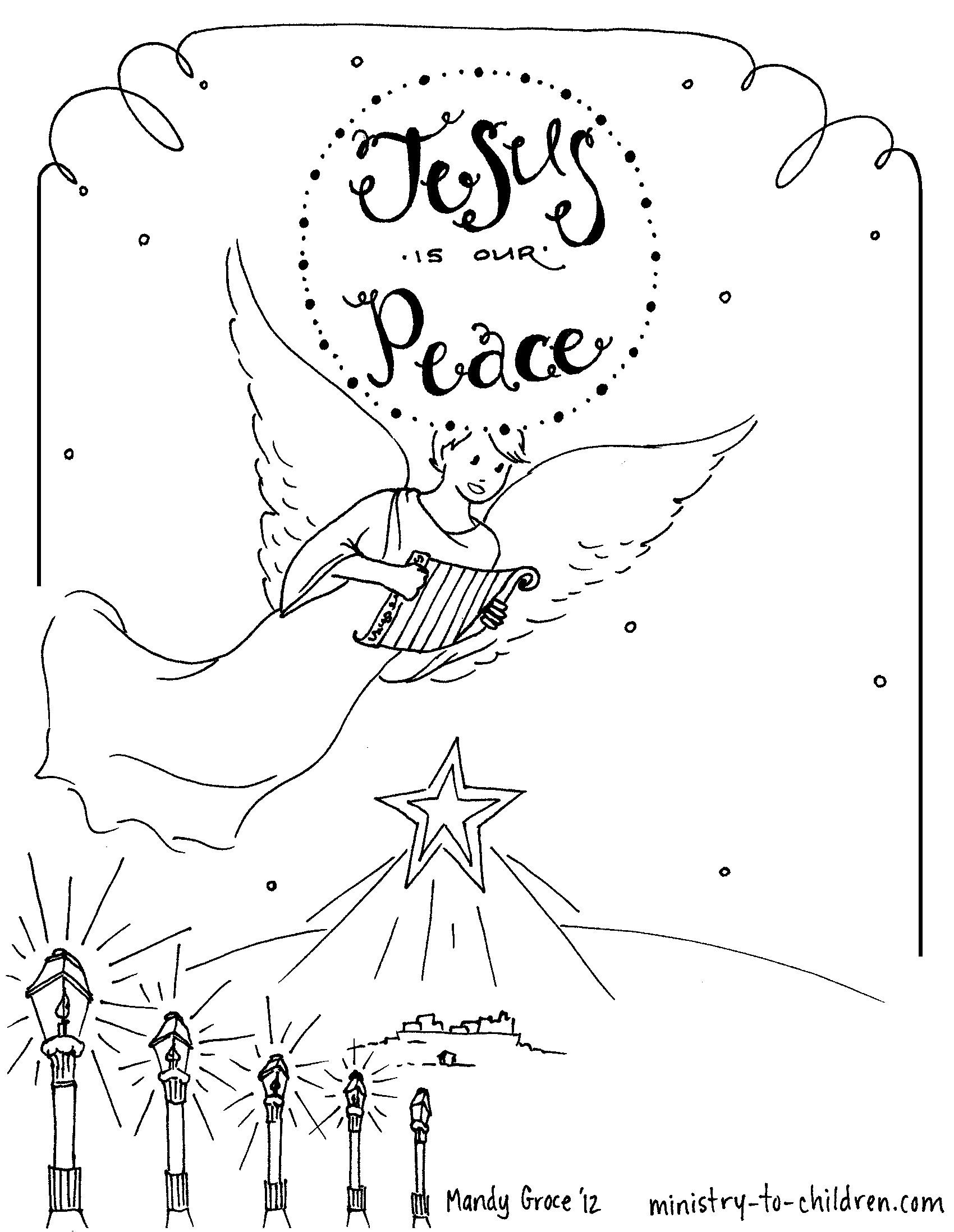 Advent Coloring Pages Free Printable