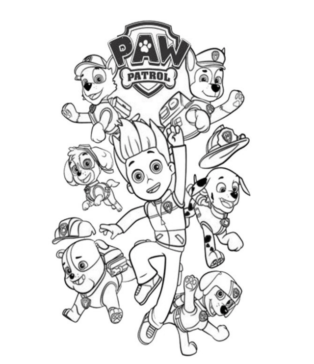 Ryder PAW Patrol Coloring Pages - Coloring Home