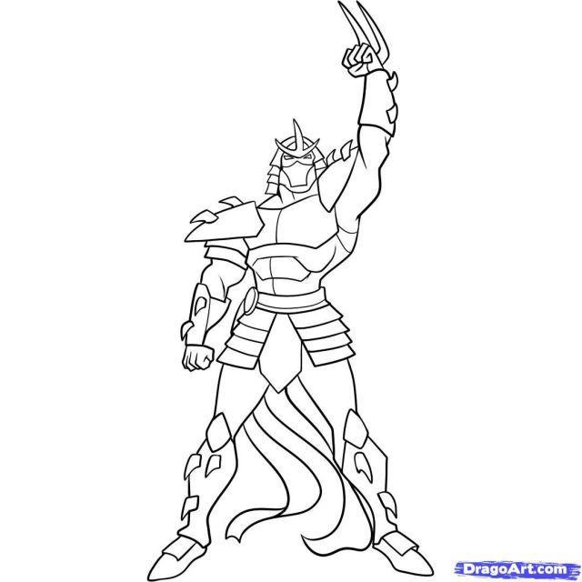 Shredder Coloring Pages - Coloring Home