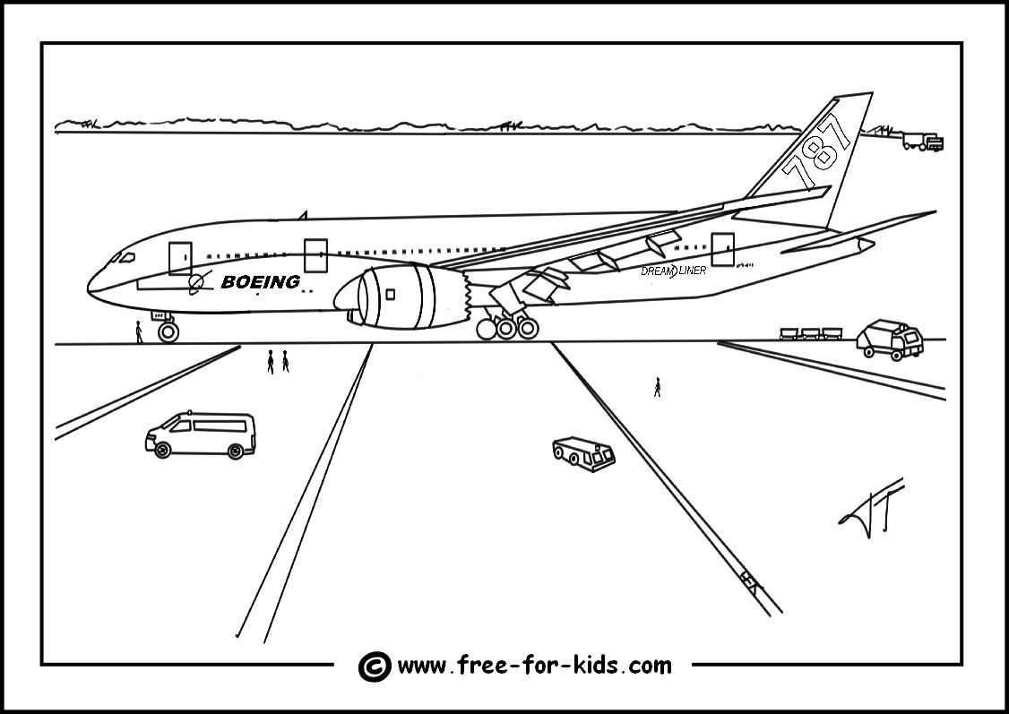 Aeroplanes Coloring Pages