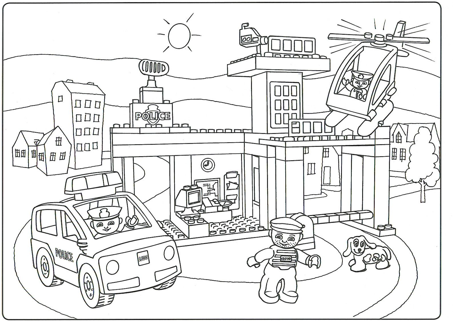 Lego Duplo Coloring Pages