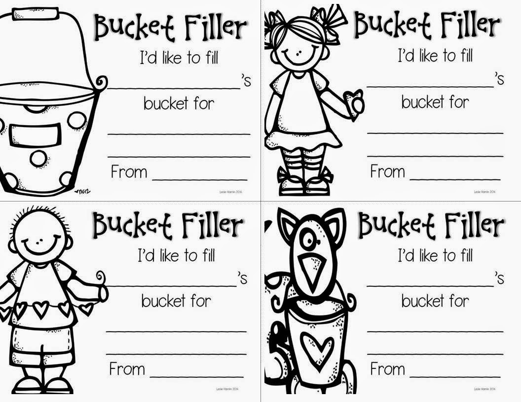 Bucket Filler Coloring Page