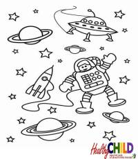Space Coloring Pages Printable - Coloring Home