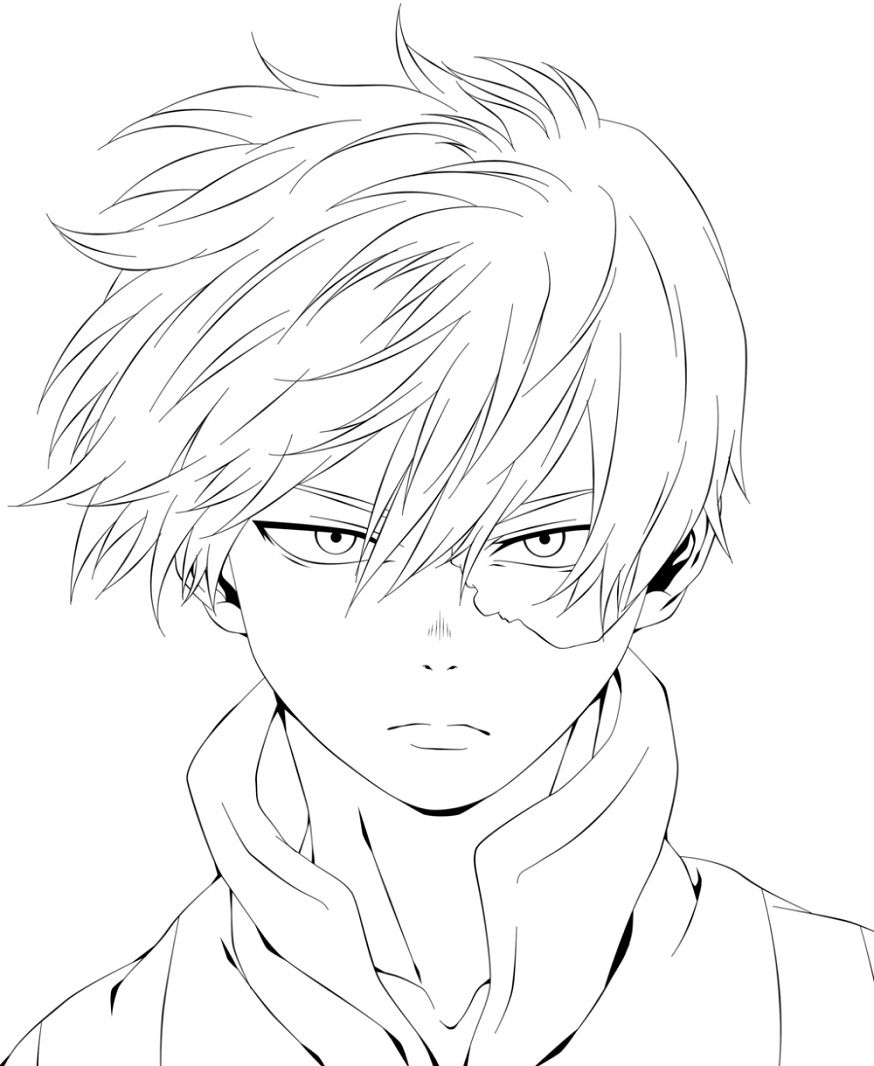 Todoroki Coloring Page : todoroki, coloring, Todoroki, Coloring, Pages
