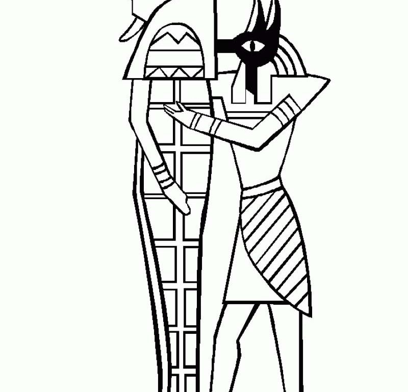Egyptian Mummy Coffin Coloring Page Get Pages Sketch