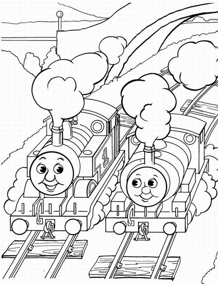 Thomas The Train Coloring Book Coloring Home
