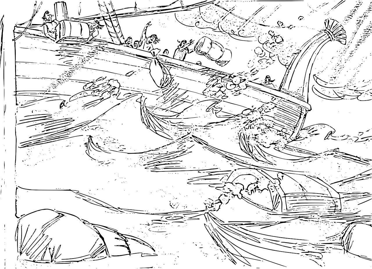 Jonah And The Whale Bible Story Coloring Pages