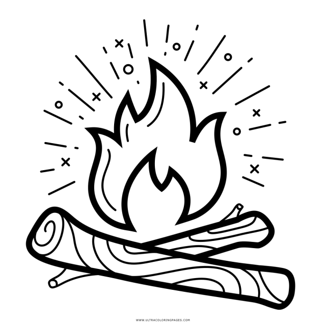 Campfire Coloring Page - Ultra Coloring Pages - Coloring Home