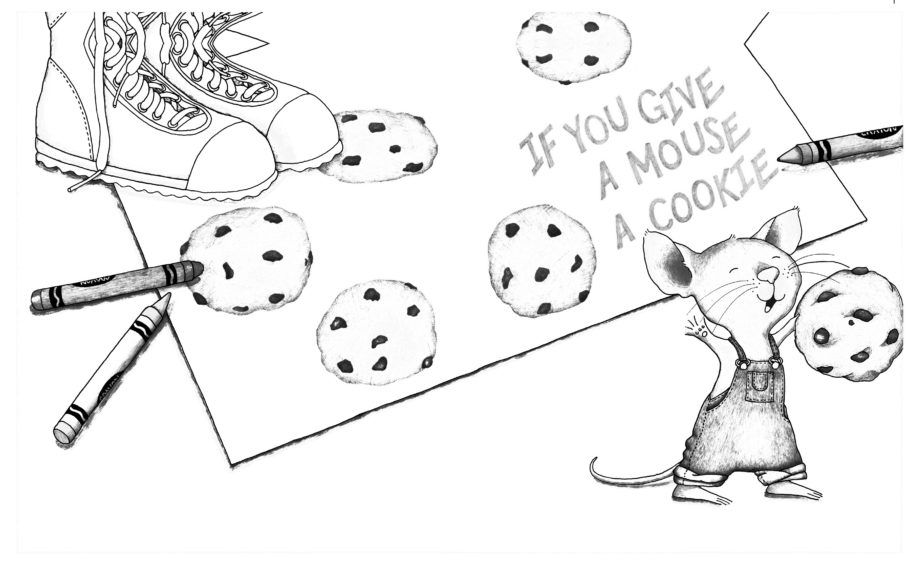 If You Give A Mouse A Cookie Coloring Pages Free