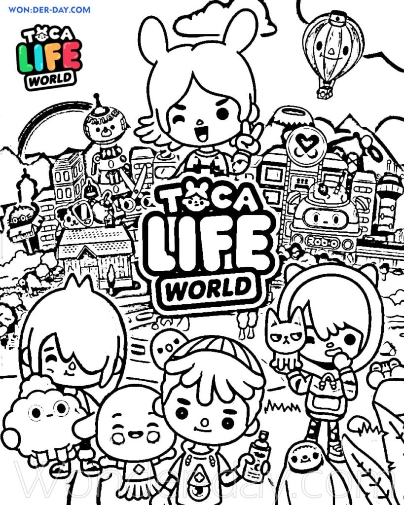 Toca Boca Coloring Pages : coloring, pages, Coloring, Pages, Printable