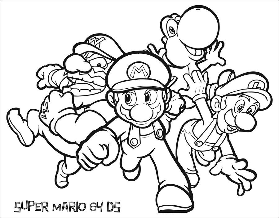 Super Mario 64 Colour In DS. By Connolystudios2 On